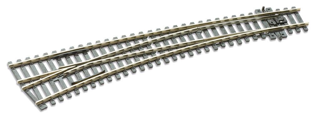 Mehr Details und Kaufen von H0 Code E87 12° Bogenweiche links ; Länge 256 mm - Peco SLE87 Außenradius 1524 mm ; Innenradius 762 mm | günstig bestellen bei Weinert-Bauteile
