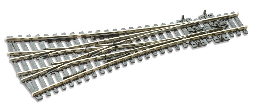 Mehr Details und Kaufen von H0 Code E100 12° 3-Wegeweiche ; Länge 220 mm - Peco SLE99 Großer Radius 914 mm | günstig bestellen bei Weinert-Bauteile