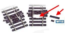 Mehr Details und Kaufen von H0 Schwellenfüllstücke für Weichen, 5 Satz - Peco  | günstig bestellen bei Weinert-Bauteile
