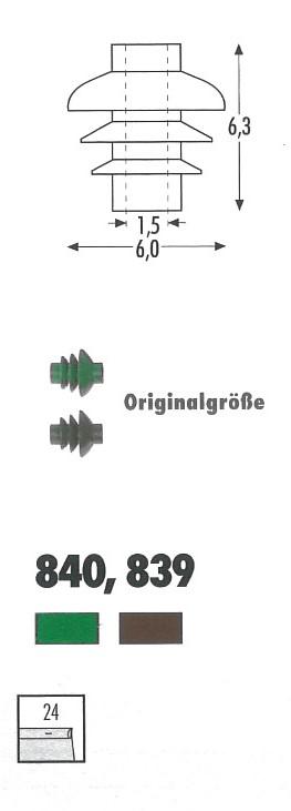 Spur 0 Isolator braun, 24 Stück - Sommerfeldt 839  | günstig bestellen bei Weinert-Bauteile