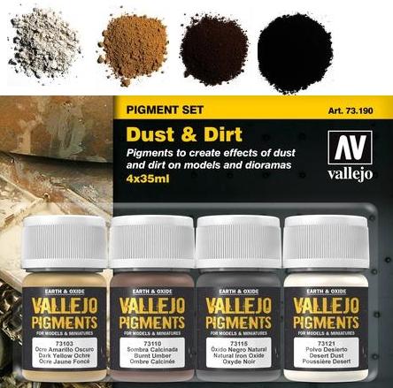 Pigment-Set Staub und Schmutz - Vallejo  | günstig bestellen bei Weinert-Bauteile