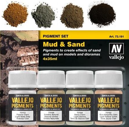 Pigment-Set Schlamm und Sand - Vallejo  | günstig bestellen bei Weinert-Bauteile