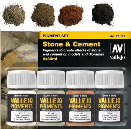 Pigment-Set  Stein und Zement - Vallejo  | günstig bestellen bei Weinert-Bauteile