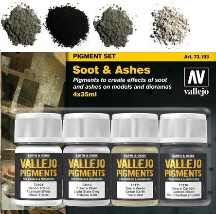 Pigment-Set Schmutz und Asche - Vallejo  | günstig bestellen bei Weinert-Bauteile