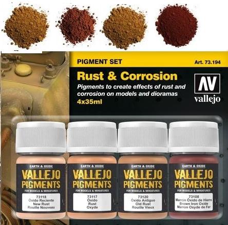 Mehr Details und Kaufen von Pigment-Set Rost und Korrosion - Vallejo  | günstig bestellen bei Weinert-Bauteile