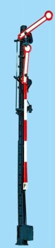 1:87 Hauptsignal, 10m Gittermast, 2-flüglig ungekoppelt - Weinert 0222  - beleuchtete Ausführung als Bausatz | günstig bestellen bei Weinert-Bauteile