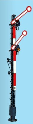 1:87 Hauptsignal, 12m Gittermast, 2-flüglig gekoppelt - Weinert 0312  - beleuchtete Ausführung als Bausatz | günstig bestellen bei Weinert-Bauteile
