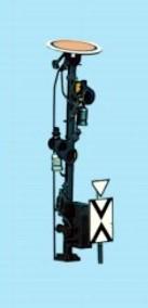 1:87 Vorsignal, 5,4m Gittermast, 2-begriffig - Weinert 1012  - beleuchtete Ausführung als Bausatz | günstig bestellen bei Weinert-Bauteile
