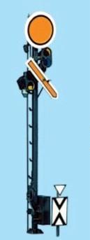 1:87 Vorsignal, 3,4m Gittermast, 3-begriffig mit Spiegelkasten - Weinert 1332  - beleuchtete Ausführung als Bausatz | günstig bestellen bei Weinert-Bauteile