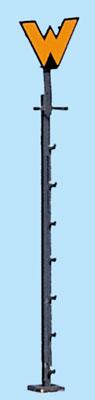 1:87 Wartezeichen ohne Laterne, gelbes W - Weinert 1801   - Bausatz | günstig bestellen bei Weinert-Bauteile