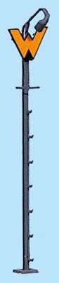 1:87 Wartezeichen mit beleuchteter Anstrahlleuchte  - Weinert 1802 - beleuchtete Ausführung als Bausatz | günstig bestellen bei Weinert-Bauteile