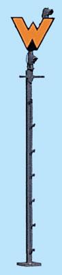 1:87 Wartezeichen für Signalbild Sh1 mit 2 LED - Weinert 1804  - beleuchtete Ausführung als Bausatz | günstig bestellen bei Weinert-Bauteile