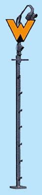 1:87 Wartezeichen für Signalbild Sh1 + Anstrahlleuchte mit 3 LED - Weinert 1805  - beleuchtete Ausführung als Bausatz | günstig bestellen bei Weinert-Bauteile