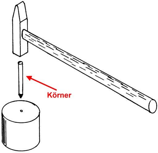 Kleiner Körner - Weinert 2345  ideal zum Nieten feiner Steuerungsnieten  | günstig bestellen bei Weinert-Bauteile