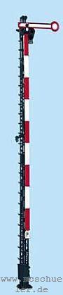 Spur 0 Form-Hauptsignal 1-flügelig, 8m-Mast, beleuchtet, Bausatz- Weinert 2501  | günstig bestellen bei Weinert-Bauteile