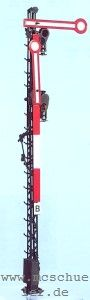 Spur 0 Form-Hauptsignal 2-flügelig, 8m-Mast, beleuchtet, Bausatz- Weinert 2503  | günstig bestellen bei Weinert-Bauteile