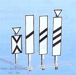 Spur 0 Bakensatz für Vorsignale, Ätzblech, Messinghalter und Schiebebilder, Bausatz - Weinert 2531  | günstig bestellen bei Weinert-Bauteile