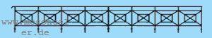 Spur 0 Geländer für Brücken und zur Begrenzung des Bahngeländes L=ca. 84cm, Messingätzteil - Weinert 2537  | günstig bestellen bei Weinert-Bauteile