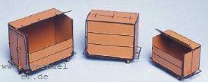 Spur 0 Klein-Container Ep.2-4, je 1 x 1,2,3m³, MS-Ätzteile, Bausatz - Weinert 2553  | günstig bestellen bei Weinert-Bauteile