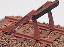 Spur 0 Prellbock für Ep.2-5 mit Echtholz-Bohle, Messingguss, Bausatz - Weinert 2555  | günstig bestellen bei Weinert-Bauteile