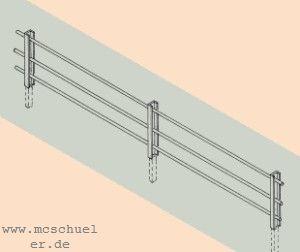 N Zaun aus Blechprofilen, 20 Pfähle,  Länge ca. 38cm- Weinert 6934  | günstig bestellen bei Weinert-Bauteile