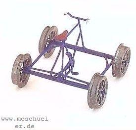 Spur 0m Fahrraddraisine (mittig) Ätzteile-MS-Gussteile, Bausatz - Weinert 2561  | günstig bestellen bei Weinert-Bauteile