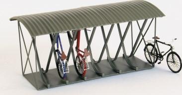 Spur 0 Fahrradständer überdacht für 12 Fahrräder, Messing-Ätzteile - Weinert 25662  | günstig bestellen bei Weinert-Bauteile