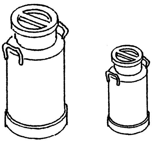 Spur 0 Milchkannen 5l und 10l, je 5 St?ck - Weinert 25689  | günstig bestellen bei Weinert-Bauteile