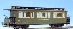 Spur 0e 4-achsiger Personenwagen des Düsseld.-Eisenbahnbedarfs Teile fertig gekantet, Bausatz - Weinert 2570  | günstig bestellen bei Weinert-Bauteile