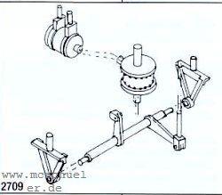 Spur 0 Bremsylinder mit Umlenkhebeln- Weinert 2709  | günstig bestellen bei Weinert-Bauteile