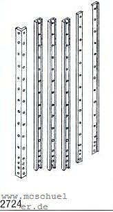 Spur 0e-0m Gussbäume mit genieteten Profilen für Schmalspur- Güterwagen, 4 Stück - Weinert 2724  | günstig bestellen bei Weinert-Bauteile