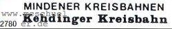 Spur 0e-0m Beschriftungssatz Kehdinger Kreisbahn und Mindener Kreisbahn - Weinert 2780  | günstig bestellen bei Weinert-Bauteile