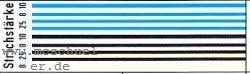 Spur 0 Zierliniensatz blau, schwarz, beige- Weinert 2784  | günstig bestellen bei Weinert-Bauteile