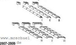 Spur 0 Blechkanäle und Rollenkästen 10xGr.I, 6xGr.II, 4xGr.III, je 2xGr.IV,V,VI, Weissmetall - Weinert 2807  | günstig bestellen bei Weinert-Bauteile