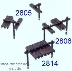 Spur 0 Rollenhalter 6-fach,(6 St.), 6 Querträger und 18 einzelne Schutzhauben mit Pfosten, Bs. - Weinert 2814  | günstig bestellen bei Weinert-Bauteile