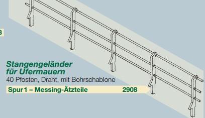 Spur 1 Geländer für Ufermauern, 48 Stück - Weinert 2908  | günstig bestellen bei Weinert-Bauteile