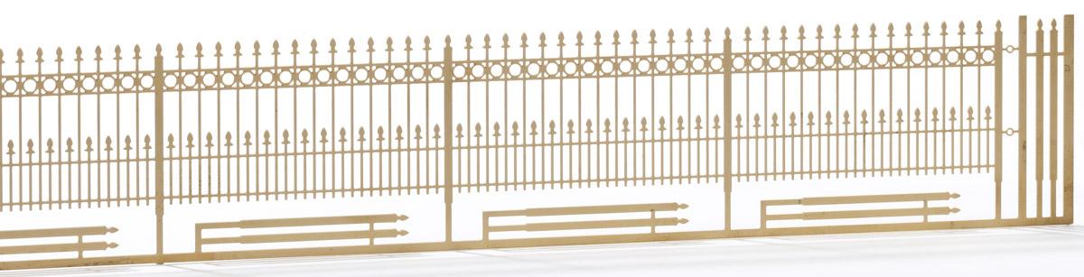 Spur 1 Schmiedeeisener Zaun, L=112cm - Weinert 2931    günstig bestellen bei Weinert-Bauteile