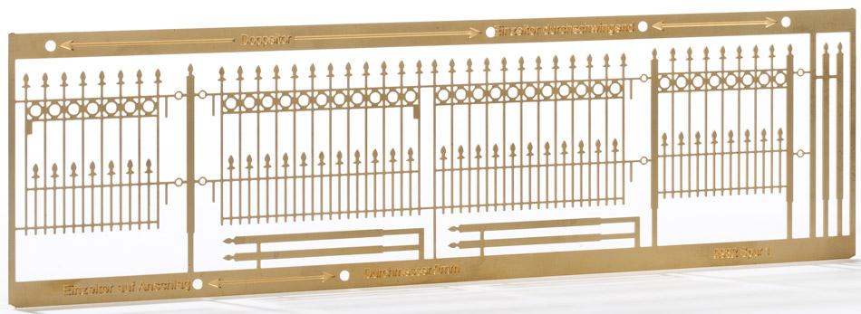 1:220 Schmiedeeiserner Zaun, L=27cm-Weinert 6875  | günstig bestellen bei Weinert-Bauteile