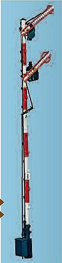 1:87 Bayrisches Einfahrsignal, 10m Mast, 2-flüglig gekoppelt - Weinert 3012  - beleuchtete Ausführung als Bausatz | günstig bestellen bei Weinert-Bauteile
