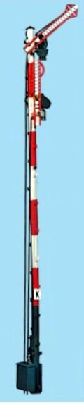1:87 Bayrisches Einfahrsignal, 10m Mast, 2-flüglig ungekoppelt - Weinert 3022  - beleuchtete Ausführung als Bausatz | günstig bestellen bei Weinert-Bauteile