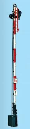 1:87 Bayrisches Ruhe-Halt-Ausfahrsignal, 8m Mast, 1-flüglig - Weinert 3102  - beleuchtete Ausführung als Bausatz | günstig bestellen bei Weinert-Bauteile