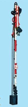 1:87 Bayrisches Ruhe-Halt-Ausfahrsignal, 8m Mast, 2-flüglig ungekoppelt - Weinert 3122  - beleuchtete Ausführung als Bausatz | günstig bestellen bei Weinert-Bauteile