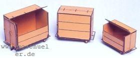 H0 Klein-Container DB Ep.2-4, je 1 x 1,2,3 m³, MS-Ätzteile fertig gekantet, Bausatz - Weinert 3206  | günstig bestellen bei Weinert-Bauteile