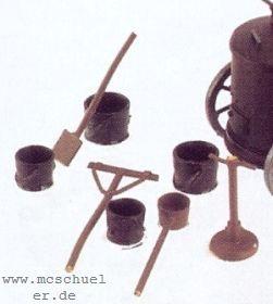 H0 Zubehör für Teerkocher, Kübel und Stampfer, MS-Gussteile - Weinert 3220    günstig bestellen bei Weinert-Bauteile
