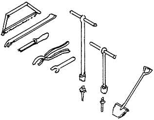 H0 Eisenbahner-Werkzeug, Feile, Eisensäge, Rohrzange, usw., Messingguss - Weinert 3222  | günstig bestellen bei Weinert-Bauteile