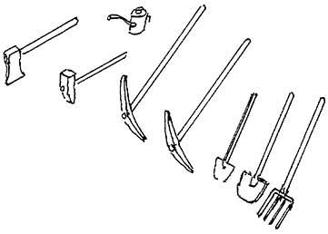 H0 Gleisbau-Werkzeuge, Ölkanne, Beil, Hammer, usw0,. Messing-Feinguss - Weinert 3223  | günstig bestellen bei Weinert-Bauteile