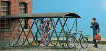H0 Fahrradstander Uberdacht Fur 12 Fahrrader Messing Atzteile