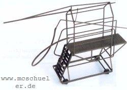 N Rohrblasgerüst Crailsheim, bewegliche, fahrbare Ausf., Messing-Ätzteile - Weinert 6955  | günstig bestellen bei Weinert-Bauteile