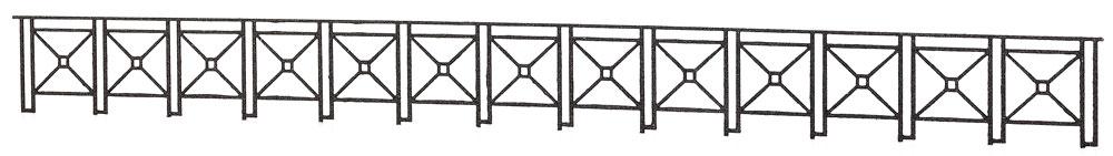 1:220 Gitter für Brücken und Bahnbereich - Weinert 6867 - 4,5mm hoch, 280mm lang | günstig bestellen bei Weinert-Bauteile