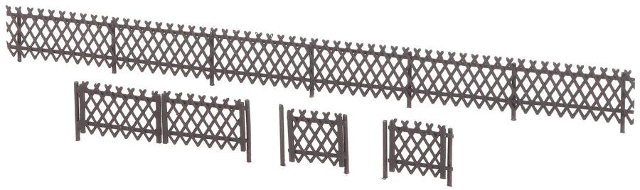 1:220 Jägerzaun mit 4 Toren - Weinert 6864 - 4,5mm hoch, 270mm lang | günstig bestellen bei Weinert-Bauteile
